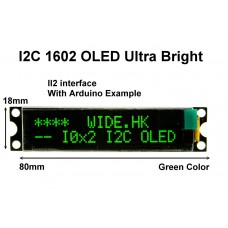 I2C 1602 OLED display module - Green