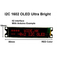 I2C 1602 OLED display module - Red