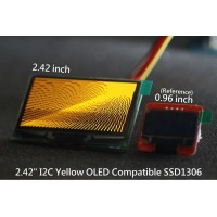 I2C 2.42 OLED 128x64 Graphic OLED Module - Yellow