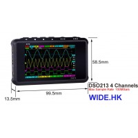 DSO 213 4x channel digital oscilloscope (Aluminum Case)