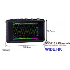 DSO 213 4x channel digital oscilloscope (Aluminum Case)