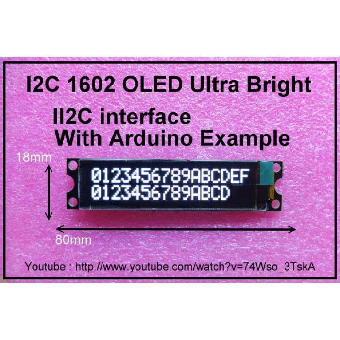 IIC / I2C 1602 16x02 OLED Module Display
