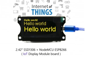 IoT ESP8266 NodeMCU + 2.42 OLED