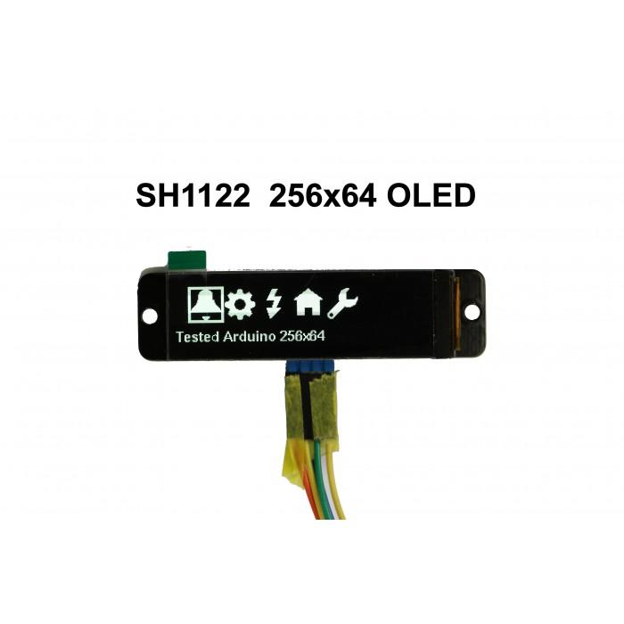 "II2C 2.08"" 256x64 Monochrome Graphic OLED Display Module"