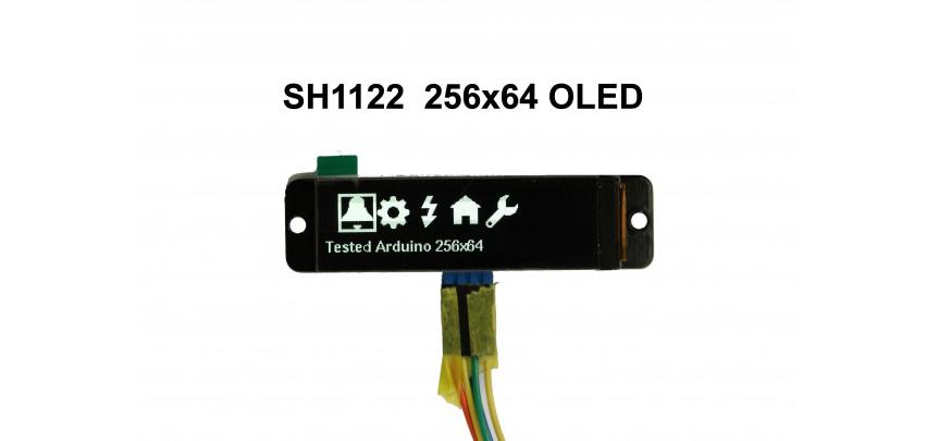 """I2C 2.08"""" SH1122  OLED 254x64"""