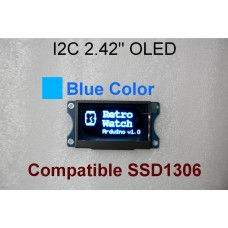 I2C 2.42 OLED 128x64 Graphic OLED Module With Hole - Blue