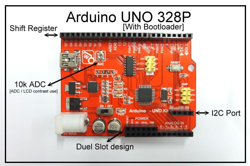 Arduino uno atmega w bootloader hc shift